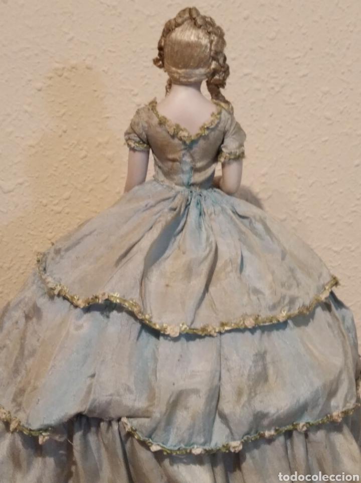 Muñeca española clasica: Antiguo costurero o joyero con muñeca de salón o boudoir - Foto 8 - 223726205