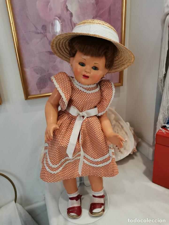 Muñeca española clasica: Preciosa muñeca española, años 50, cartón piedra - Foto 2 - 225589297