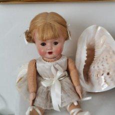 Muñeca española clasica: PRECIOSA MUÑECA DE COMPOSICIÓN Y LIENZO BAILARINA, AÑOS 40/50. Lote 225974130