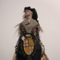 Muñeca española clasica: MUÑECA BISCUIT EXPOSICION UNIVERSAL DE BARCELONA 1929 VESTIDO DE PUBILLA. Lote 229592495