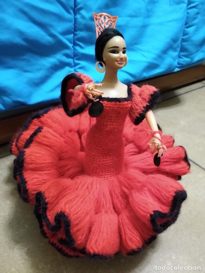 Muñeca española clasica: Preciosa muñeca flamenca o sevillana con fantástico traje artesanal volantes - Foto 2 - 230653865