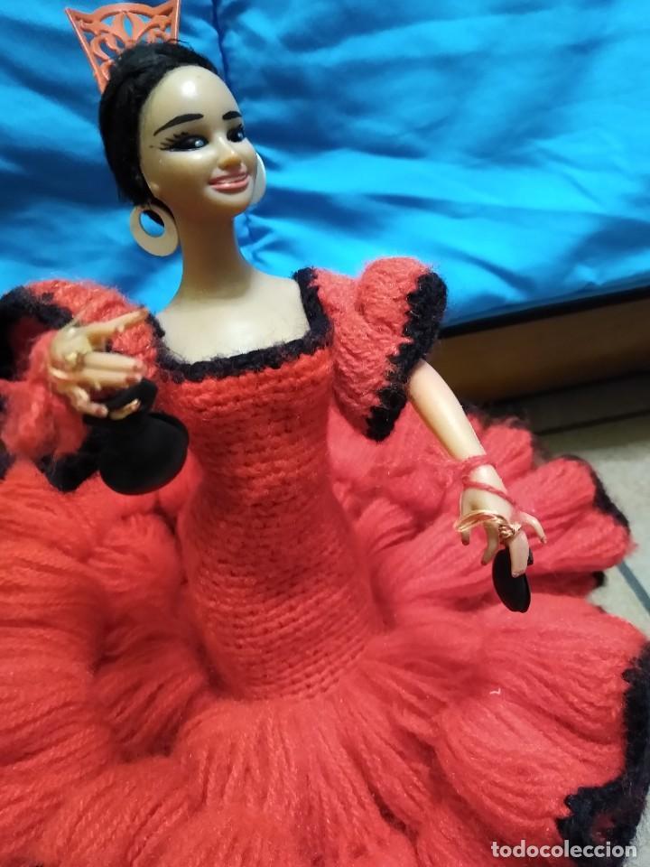 Muñeca española clasica: Preciosa muñeca flamenca o sevillana con fantástico traje artesanal volantes - Foto 8 - 230653865