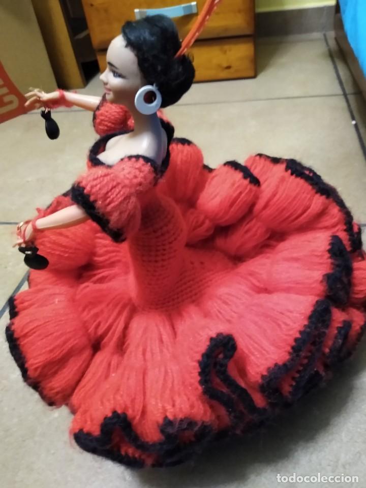 Muñeca española clasica: Preciosa muñeca flamenca o sevillana con fantástico traje artesanal volantes - Foto 11 - 230653865