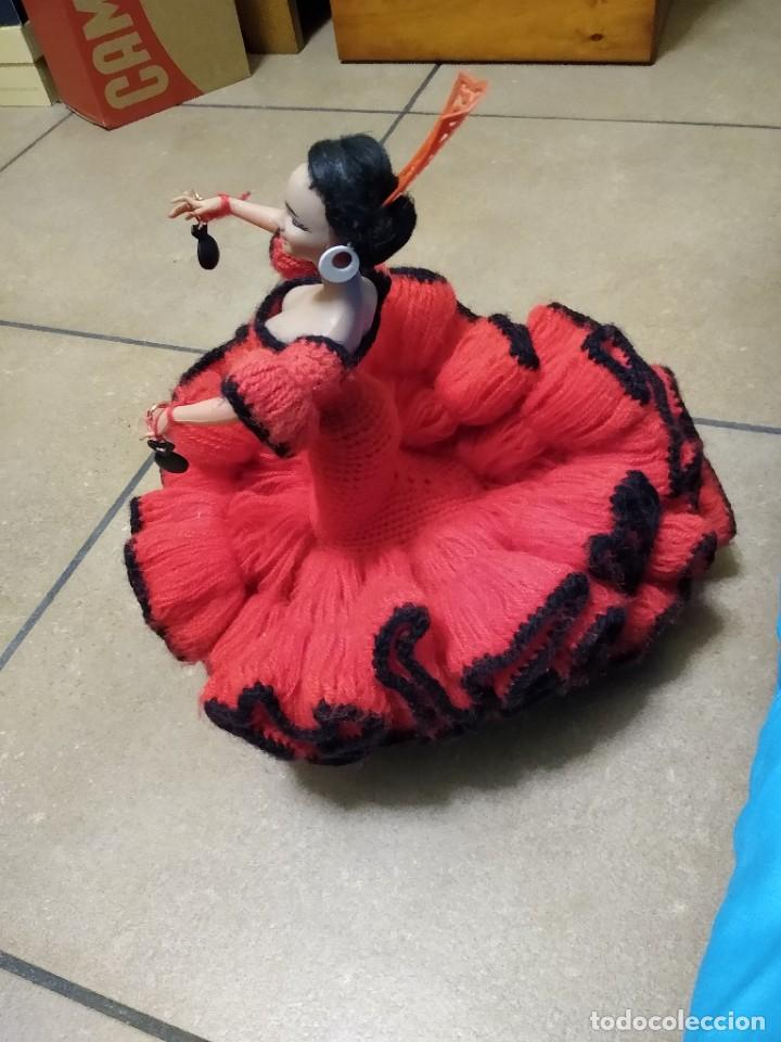 Muñeca española clasica: Preciosa muñeca flamenca o sevillana con fantástico traje artesanal volantes - Foto 14 - 230653865