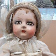 Muñeca española clasica: ANTIGUA MUÑECA DE CARTON PIEDRA. Lote 232516885