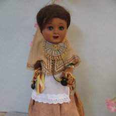 Muñeca española clasica: ANTIGUA MUÑECA TERESIN 34 CM.CABEZA CELULOIDE CUERPO CARTON PIEDRA CON ORIGINAL CONJUNTO MALLORQUIN. Lote 234750350