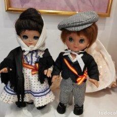 Muñeca española clasica: LINDA PIRULA, MUÑECAS ESPAÑOLAS AÑOS 60. PRECIOSA PAREJA DE CHULAPOS MADRILEÑOS. Lote 234910850
