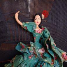 Muñeca española clasica: MUÑECA TRAPO ARTESANAL FIELTRO ARTICULADA ANTIGUA. Lote 235878395