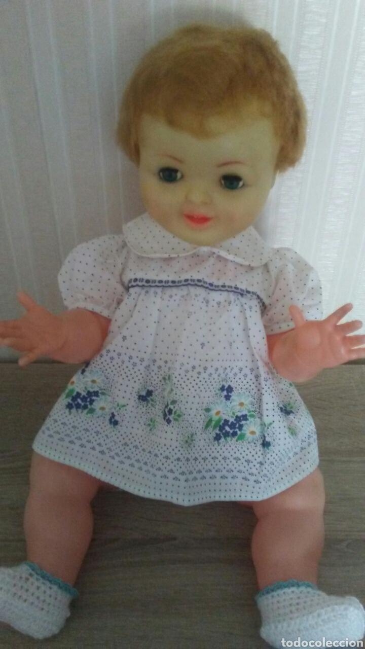 Muñeca española clasica: Muñeco Pirri años 60.Mide 53cent,ojos margarita,,manos articuladas .(ver fotos y leer descripción) - Foto 2 - 237470360