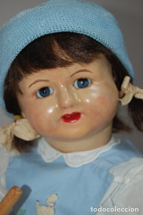 Muñeca española clasica: muñeca de composición con cubo y pala de lata - Foto 7 - 238397830