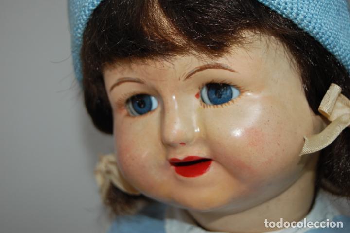 Muñeca española clasica: muñeca de composición con cubo y pala de lata - Foto 15 - 238397830