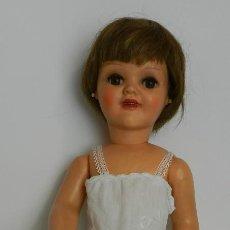 Muñeca española clasica: ANTIGUA MUÑECA ESPAÑOLA DEL CATÁLOGO DE SANTIAGO MOLINA, ONIL, AÑOS 50- CABELLO NARURAL OJO DURMIENT. Lote 238666370