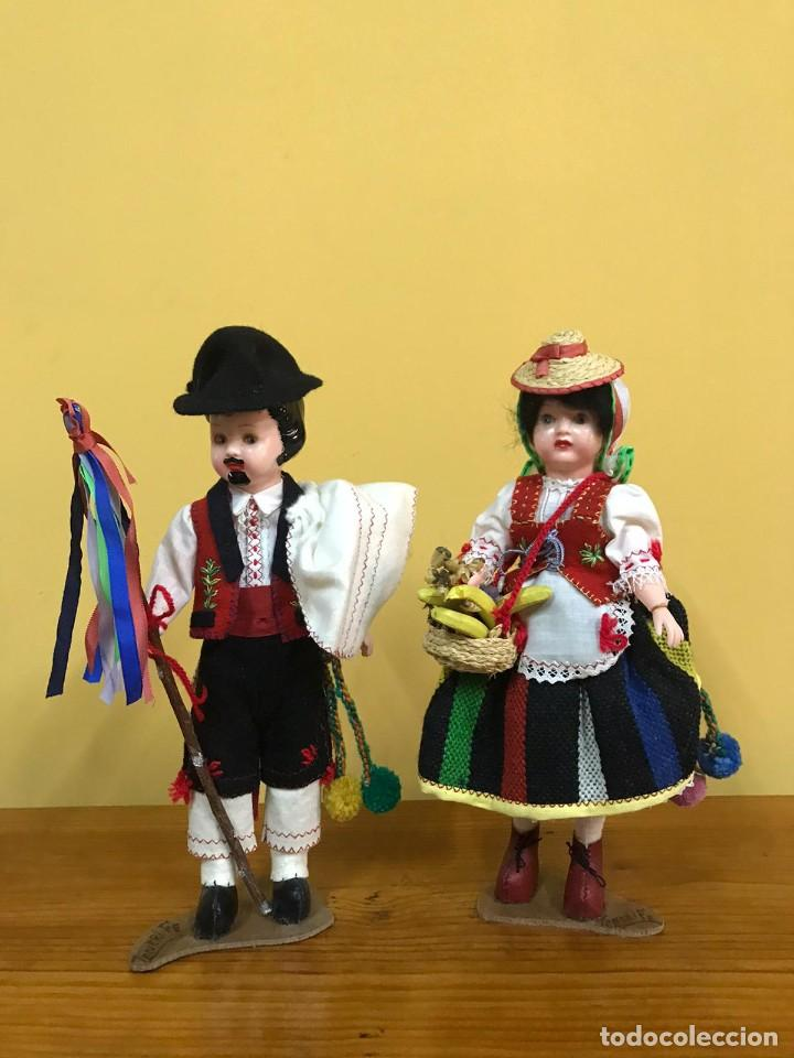 Muñeca española clasica: BONITA PAREJA MUÑECOS TENERIFE AÑOS 50 - Foto 7 - 240926820