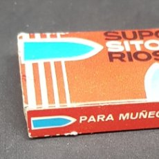 Muñeca española clasica: ANTIGUA CAJA - SUPOSITORIOS PARA MUÑECAS - CAR202. Lote 243092905
