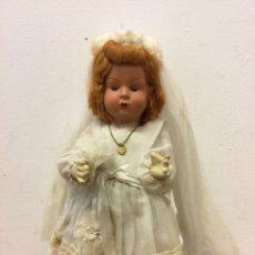 Boneca espanhola clássica: MUÑECA TERRACOTA COMUNION AÑOS 50. Lote 243614230