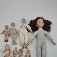 Muñeca española clasica: LOTE MUÑECAS EN PORCELANA, 3 CON CUERPO DE TRAPO ( VER FOTOS ). Lote 244497635