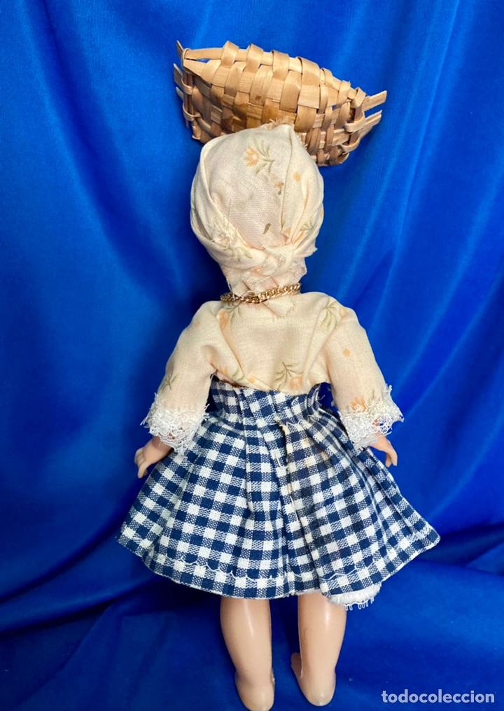 Muñeca española clasica: Muñeca sardinera del norte, de celuloide, ojos durmientes, antigua. - Foto 3 - 244684930