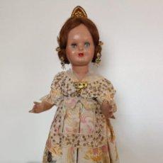 Muñeca española clasica: ANTIGUA MUÑECA MARY CRIS DE PRINCIPIOS DE LOS 50. VESIDA CON TRAJE COMPLETO DE FALLERA, CAMISA, EN. Lote 245106900