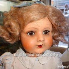 Muñeca española clasica: ANTIGUA MUÑECA EN CARTON PIEDRA. TODA DE ORIGEN. BIEN CONSERVADA. OJOS DURMIENTES. 50 CTMS. Lote 245284205