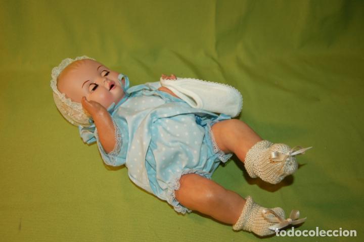 Muñeca española clasica: bebé de cartón y celuloide - Foto 8 - 245524600