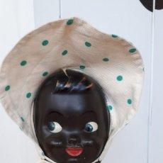 Muñeca española clasica: MUÑECA ANTIGUA NEGRITA TRAPO 62 CM. Lote 246582500