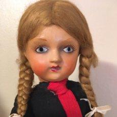 Muñeca española clasica: MUÑECA CARTÓN PIEDRA,AÑOS 40. Lote 247095615