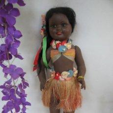 Muñeca española clasica: ORIGINAL MUÑECA VIBEVI DE CARTON PIEDRA 48 CM. HAWAIANA. Lote 248109015