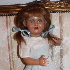 Muñeca española clasica: MUÑECA ANTIGUA ESPAÑOLA, ARTICULADA, LLORÓN, 48CM.. Lote 248623015