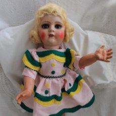 Muñeca española clasica: MUY ANTIGUA MUÑECA CATALANA DE APROX. 55CM.. Lote 249178030