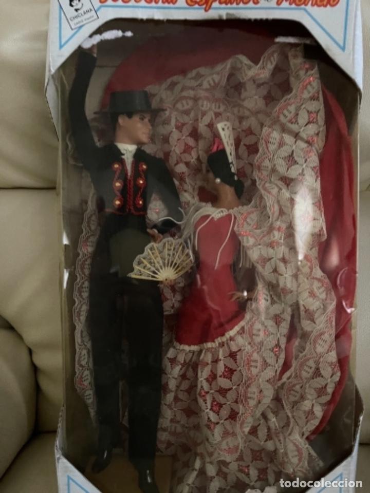 Muñeca española clasica: Marín caja original con dos muñecos flamencos 32 Cm - Foto 15 - 251267455