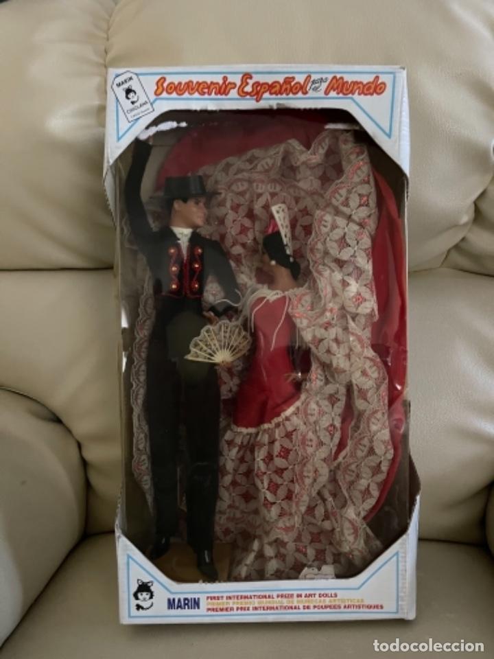 Muñeca española clasica: Marín caja original con dos muñecos flamencos 32 Cm - Foto 18 - 251267455