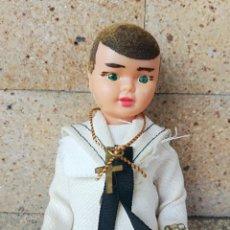 Bambola spagnola classica: ANTIGUO MUÑECO DE LA PRIMERA COMUNION EN CELULOIDE DE LOS AÑOS 50 - ALTURA: 14,5 CM. Lote 252185665