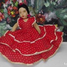 Muñeca española clasica: ANTIGUA MUÑECA REVERSIBLE REGIONALES,PAGÉS O SIMILAR. Lote 252241595