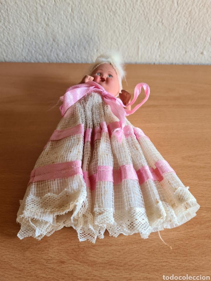 Muñeca española clasica: Muñeca brazos articulados año 1951 - Porcelana Biscuit - Vestido de tela y papel - Numerada - Foto 2 - 254623395