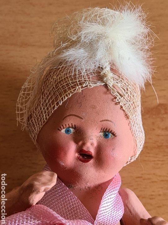 Muñeca española clasica: Muñeca brazos articulados año 1951 - Porcelana Biscuit - Vestido de tela y papel - Numerada - Foto 4 - 254623395