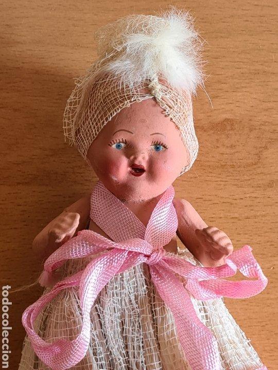 Muñeca española clasica: Muñeca brazos articulados año 1951 - Porcelana Biscuit - Vestido de tela y papel - Numerada - Foto 5 - 254623395