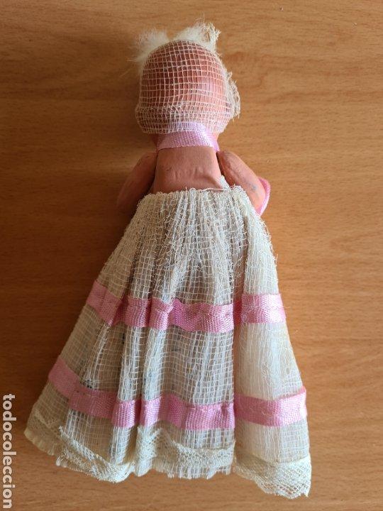Muñeca española clasica: Muñeca brazos articulados año 1951 - Porcelana Biscuit - Vestido de tela y papel - Numerada - Foto 6 - 254623395