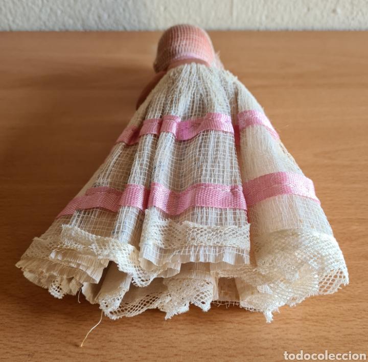 Muñeca española clasica: Muñeca brazos articulados año 1951 - Porcelana Biscuit - Vestido de tela y papel - Numerada - Foto 7 - 254623395