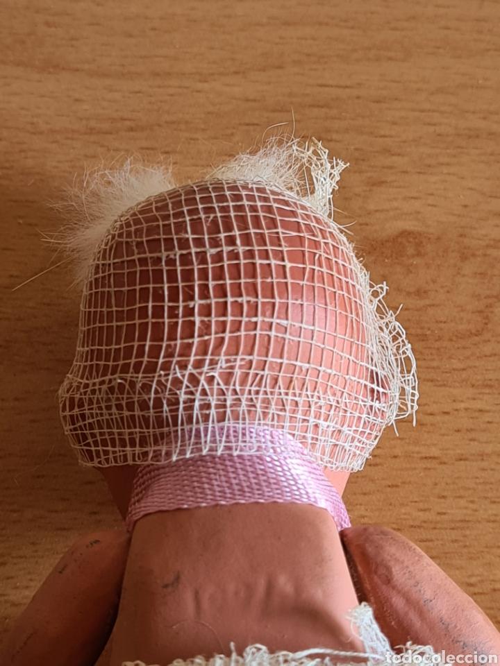 Muñeca española clasica: Muñeca brazos articulados año 1951 - Porcelana Biscuit - Vestido de tela y papel - Numerada - Foto 8 - 254623395