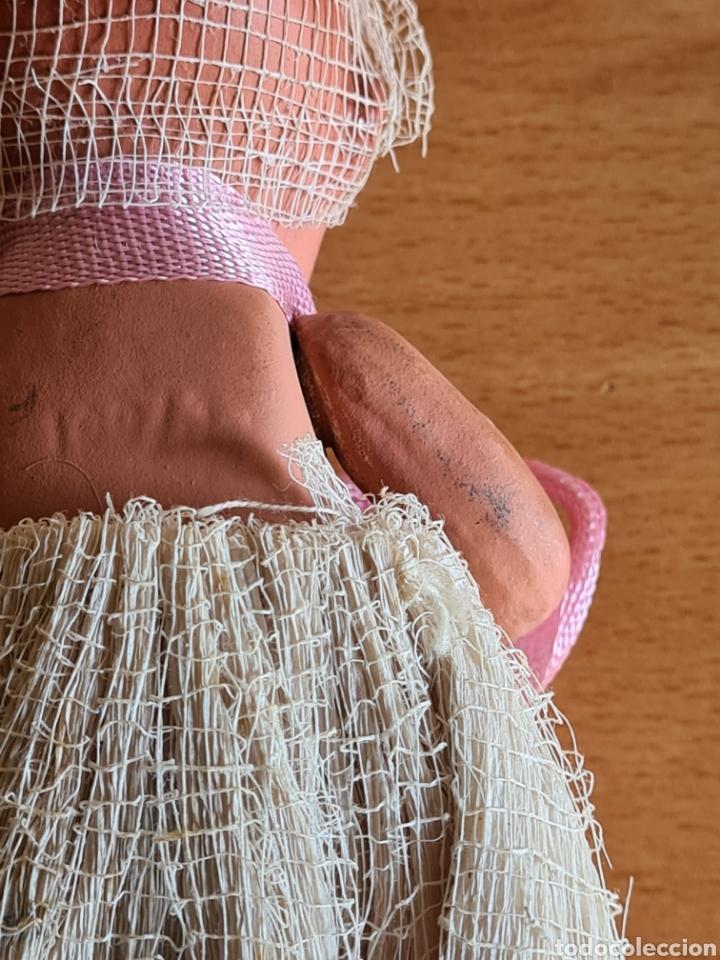 Muñeca española clasica: Muñeca brazos articulados año 1951 - Porcelana Biscuit - Vestido de tela y papel - Numerada - Foto 11 - 254623395