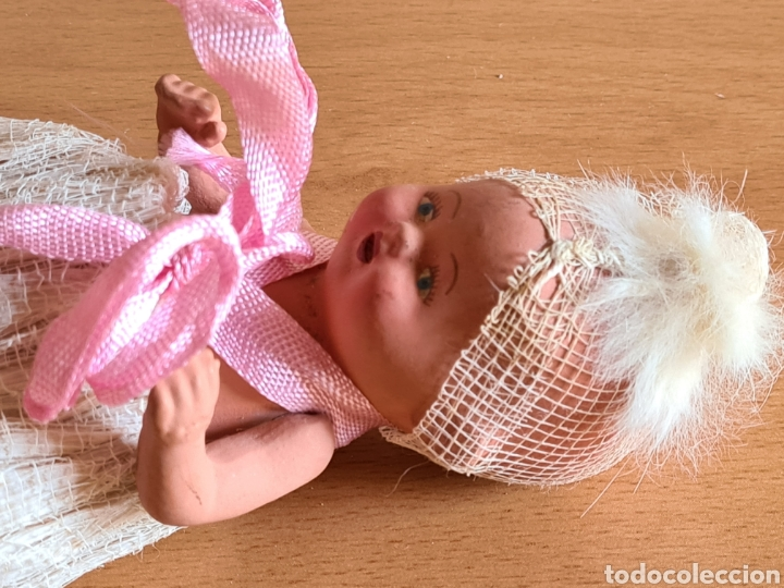 Muñeca española clasica: Muñeca brazos articulados año 1951 - Porcelana Biscuit - Vestido de tela y papel - Numerada - Foto 14 - 254623395