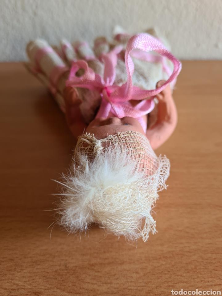Muñeca española clasica: Muñeca brazos articulados año 1951 - Porcelana Biscuit - Vestido de tela y papel - Numerada - Foto 15 - 254623395