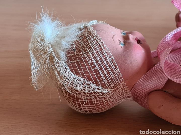 Muñeca española clasica: Muñeca brazos articulados año 1951 - Porcelana Biscuit - Vestido de tela y papel - Numerada - Foto 18 - 254623395