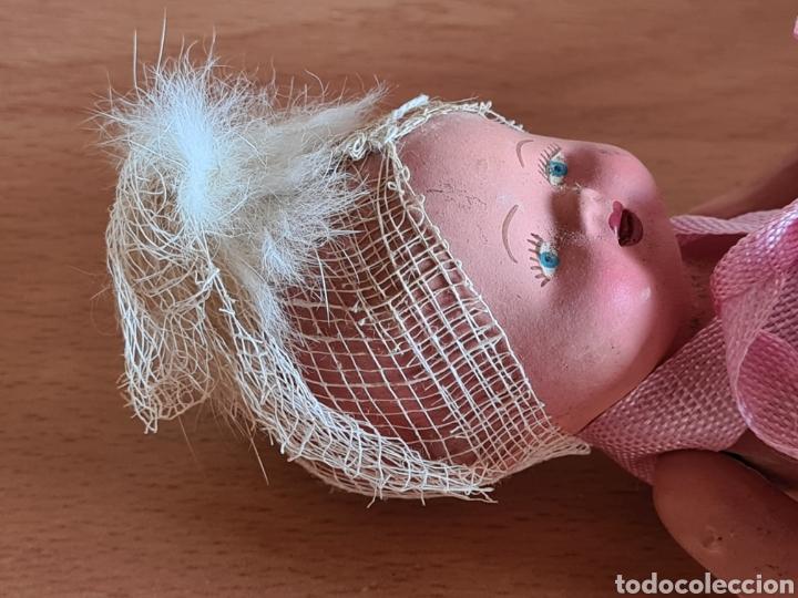 Muñeca española clasica: Muñeca brazos articulados año 1951 - Porcelana Biscuit - Vestido de tela y papel - Numerada - Foto 19 - 254623395