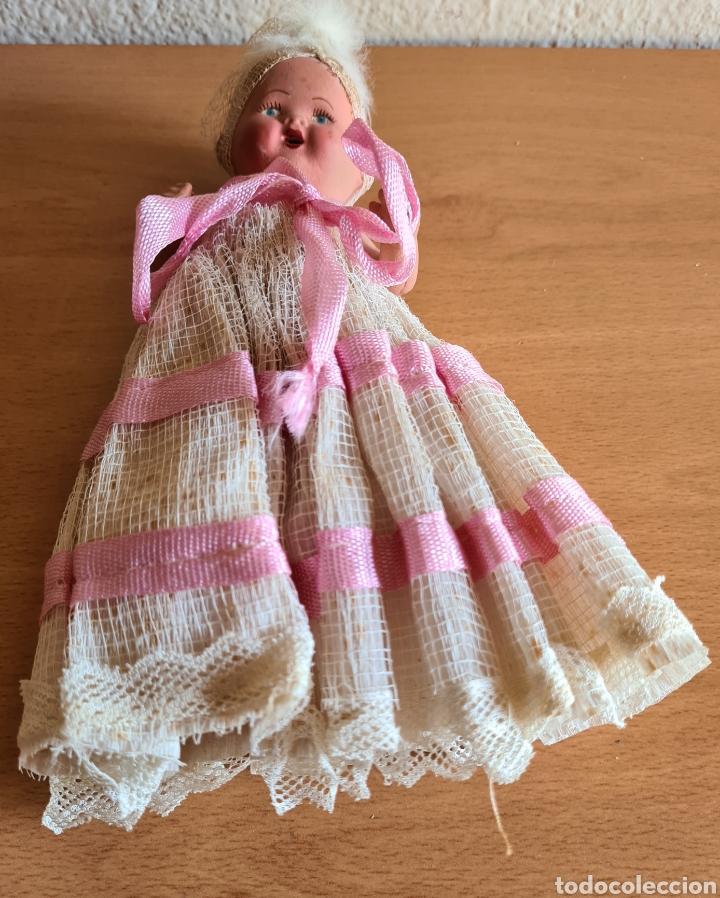 Muñeca española clasica: Muñeca brazos articulados año 1951 - Porcelana Biscuit - Vestido de tela y papel - Numerada - Foto 21 - 254623395
