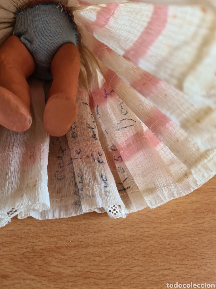 Muñeca española clasica: Muñeca brazos articulados año 1951 - Porcelana Biscuit - Vestido de tela y papel - Numerada - Foto 25 - 254623395