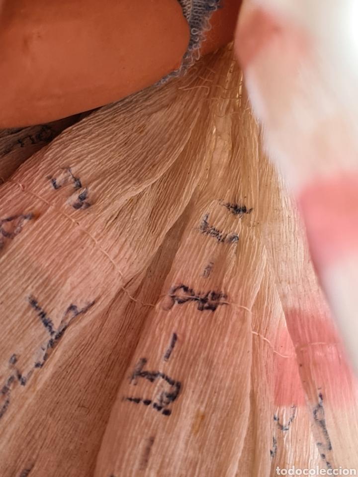 Muñeca española clasica: Muñeca brazos articulados año 1951 - Porcelana Biscuit - Vestido de tela y papel - Numerada - Foto 26 - 254623395