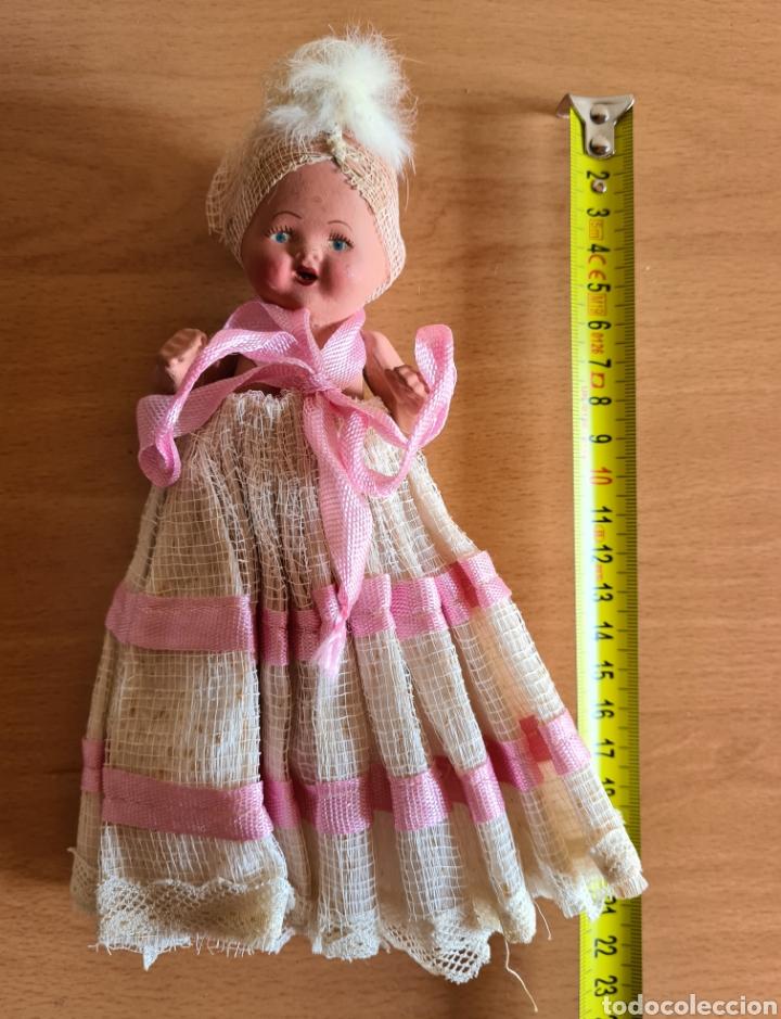 Muñeca española clasica: Muñeca brazos articulados año 1951 - Porcelana Biscuit - Vestido de tela y papel - Numerada - Foto 27 - 254623395