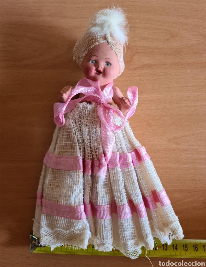Muñeca española clasica: Muñeca brazos articulados año 1951 - Porcelana Biscuit - Vestido de tela y papel - Numerada - Foto 28 - 254623395