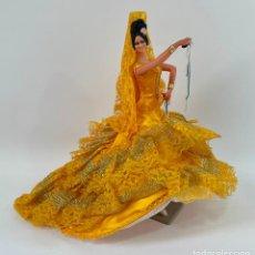 Muñeca española clasica: FLAMENCA CON CASTAÑUELAS 26 CM MUÑECAS MARÍN CHICLANA. Lote 261926265